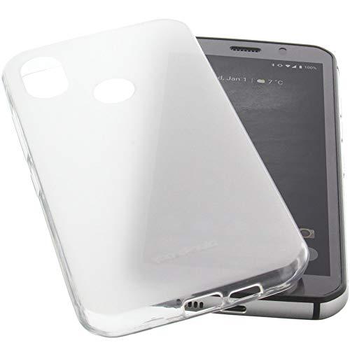 foto-kontor Hülle für CAT S52 Tasche Gummi TPU Schutz Handytasche transparent
