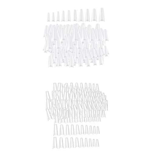 SDENSHI 1000 C Curve Shape False Nails Half Cover Acrylic
