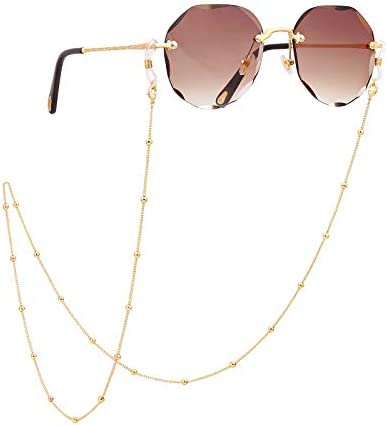 PEARLADA 18K Gold Plated Eyeglass Chain for Women Sunglasses Strap Holder Reading Glasses Retainer product image