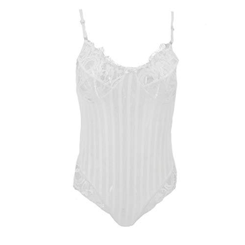 Mono Lenceria Hueca Bolsa Reductora Mujer Sexy Conjuntos lencería Blanca Camisetas Ropa...