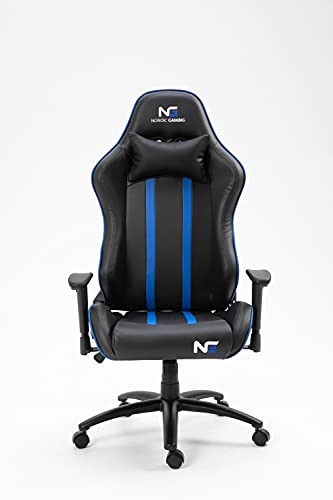 PKline Nordic Gaming Carbon Gamin Stuhl schwarz, blau PC Bürostuhl Zockerstuhl Sessel Chefsessel