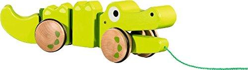 EMILO 30014 Holz-Krokodil zum Nachziehen
