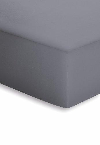 schlafgut 005-128 Microfaser-Feininterlock Spannbetttuch / 180 x 200 cm, Graphit