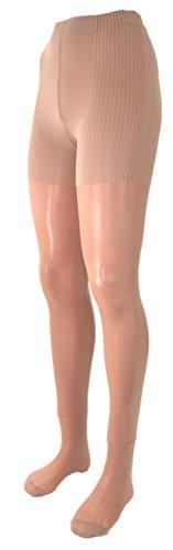 Fibrotex Damen Stützstrumpfhose 20 DEN Push-up, Farben alle:05 cappuccino, Größe:XL (48/50)