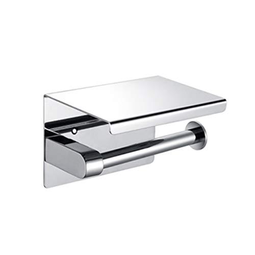 FHK 304 extra grueso acero inoxidable pequeño rollo papel titular caja de papel higiénico caja de papel puede poner teléfono celular titular de papel higiénico titular