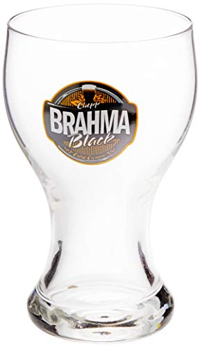 Brahma Black Box com 04 Copos para Chopp Ambev Transparente 430Ml
