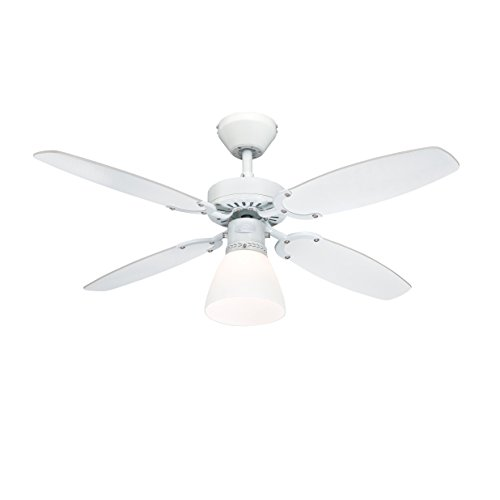 Westinghouse Capitol Deckenventilator White Finish With Reversible White/Beech Blades