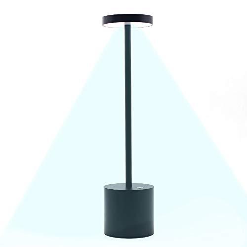 SHENGY Luces de Escritorio Inalambricas para Patio, lamparas Encima Mesa Comedor, Luz de Lectura de 360 Grados para Proteger los Ojos, con 2 Niveles de Brillo, 10 Horas de Iluminacion Continua, Black