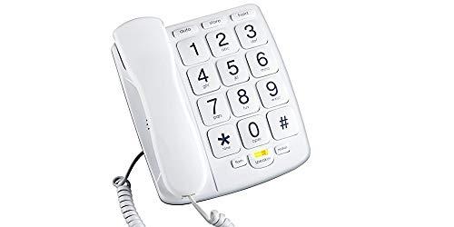 Teléfono fijo con manos libres y teclado grande DV TECH Marcación directa