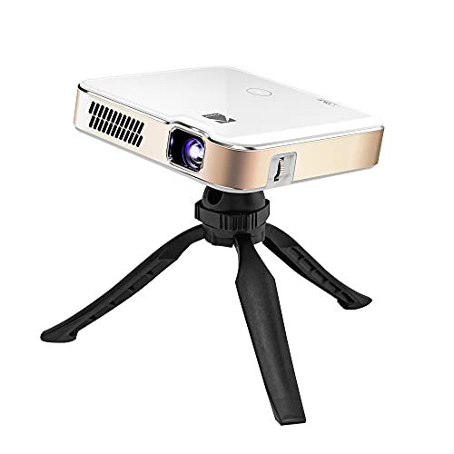 Proiettore portatile smart KODAK Luma 400 HD: Compatibile con Wi-Fi, Bluetooth, HDMI e USB. Risoluzione nativa fino a 150' 720p (4K), 200 ansi lumen. Treppiede incluso