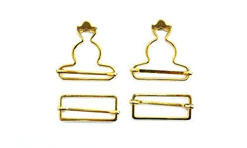 Hosenträgerschnallen-Set aus Metall, mitrechteckigen Schließen für Träger, Gurteund Halterungen von Overalls und Schürzenkleidern, 40 mm,...