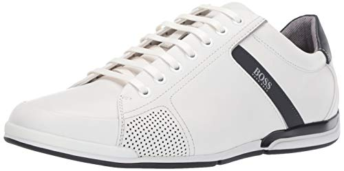 Hugo Boss Saturn Low Profile Lux by BOSS Men's Shoes (11 D US) White