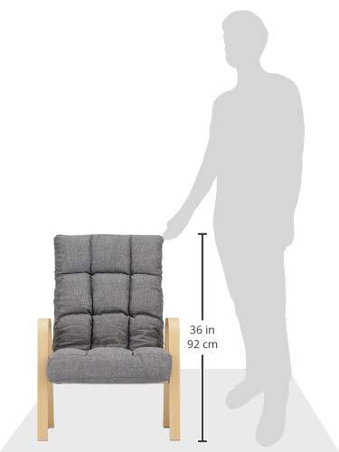 アイリスオーヤマ椅子ウッドアームチェアMサイズグレーWAC-M