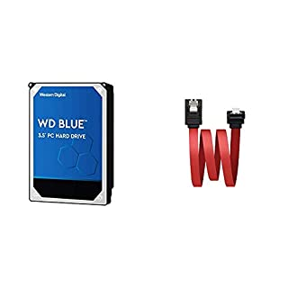 WD Blue - Disco Duro para Ordenadores de sobremesa de 3 TB Azul + NanoCable 10.18.0301 - Cable SATA Datos acodado con Anclajes para Disco Duro o Dispositivos con conexión SATA, Rojo, 0.5mts (B07XLM15FK) | Amazon price tracker / tracking, Amazon price history charts, Amazon price watches, Amazon price drop alerts