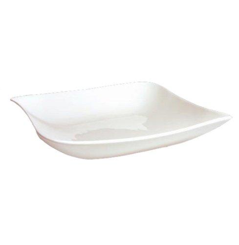 Générique - Assiette carree vague blanc