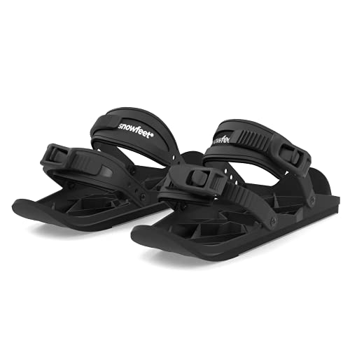 Snowfeet Basic - Mini Short Skates für Schnee | Ski für Winterschuhe | Kurze Snowskates Snowblades Skiboards | Das echte Original
