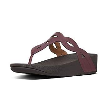 FitFlop Girls EVA Interlace Toe-Thongs Sandal Lingonberry 9 Big Kid