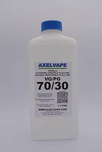 AXELVAPE VG/PG 50/50, 60/40, 70/30, 80/20 USP, PH EUR 1 LITRO LT (70/30)