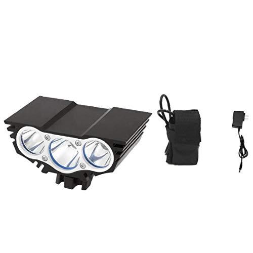 NaiCasy Bombilla 3 lámpara de luz LED Linterna de la Bicicleta de la Bici de Seguridad Delanteros LED con Cargador de baterías Paquete de 4 DC