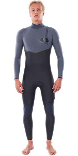 RIP CURL Mens Flashbomb 5/4mm Zip Free Wetsuit WSMYUF - Grey Wetsuit Size - L