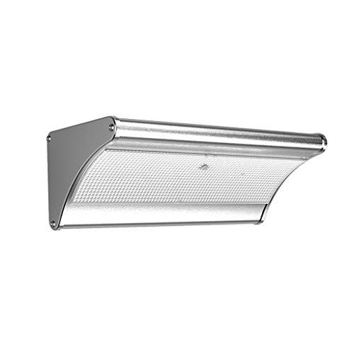 Luz solar para exteriores de paisaje de patio y césped, luz LED de inducción, luz de inundación de pared, luz de calle, ABS y policarbonato., Warm Light, Large