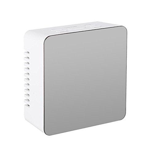 Fdit LED digitale wekker multifunctionele USB spiegel wekker tafellamp bureau nachtkastje voor slaapkamer keuken reis