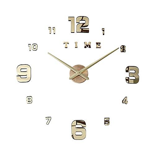 RWJFH Reloj Reloj Reloj de Pared Digital Wall 3D Large Mute, Reloj de Pared d