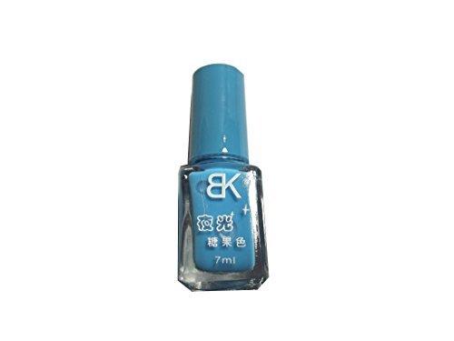 1 Stk. Nail Polish Nachtleuchtend Fluorescent Nagellack blau babyblau#07