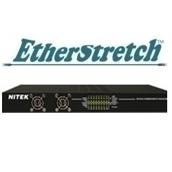ER1651U NITEK, 16-poorts ethernetverlenging, tot 500 m over tweedraads, 10/100 BaseT, ontvanger overdracht tot 500 m via tweedraads ondersteunt elk netwerkapparaat, incl. IP-camera's volledig transparant in het netwerk, eenvoudige installatie, geen setup nodig Geen MAC- of IP-adresatie vereist