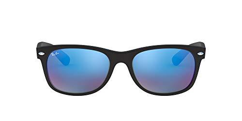 Ray-Ban 0RB2132F 55 622/17 Gafas, Gummi Schwarz Gr Spiegel Blau, 55 MM para Hombre