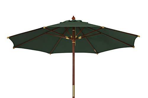 Kai Wiechmann Sonnenschirm Sunshine ø 350 cm Garten, grün, UV-Schutz 50+ ✓ mit Windauslass ✓