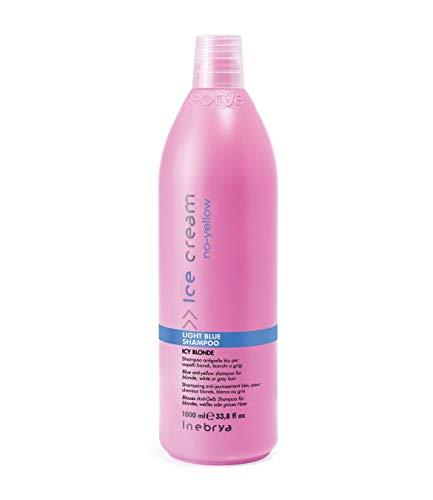 Inebrya SHAMPOO AZZURRO 1000 ml Anti-gelb blau fuer blondes, weißes oder graues Haar
