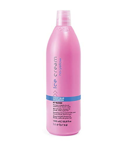 Shampoo antigiallo blu capelli biondi,decolorati,grigi-Light Blue INEBRYA 1000ml
