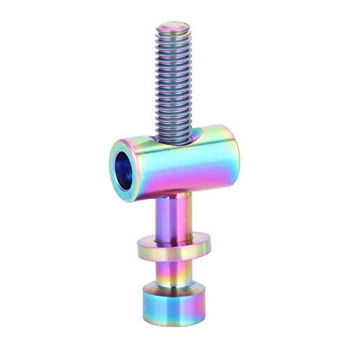 Tornillo para tija de sillín de bicicleta, perno de tija de sillín de bicicleta de aleación de titanio Tornillo fijo de cabeza redonda M5x30 / 35 / 40mm para tubo de asiento(M5x30-arcoíris)