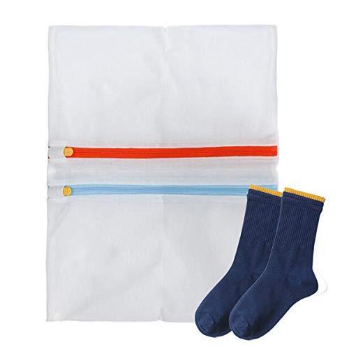 Wannoc - Bolsas de lavandería de malla 4 en 1 para lavadora y secadora, bolsa pequeña para ropa de lavandería para calcetines delicados