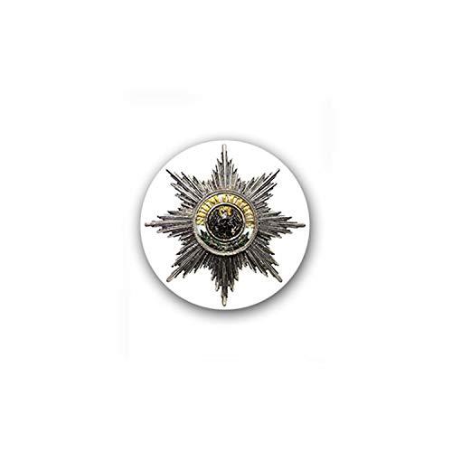 Sticker Autocollant – Noir Aigle Prusse Garde étoile Récompense Armée Allemagne haute ordre 7 x 7 cm # a1820