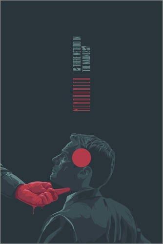 Poster 61 x 91 cm: Mindhunter von Fourteenlab - hochwertiger Kunstdruck, neues Kunstposter