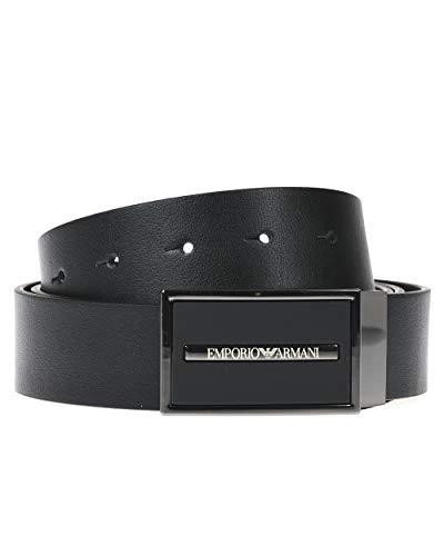 Emporio Armani Herren Belt Gürtel, schwarz, Einheitsgröße