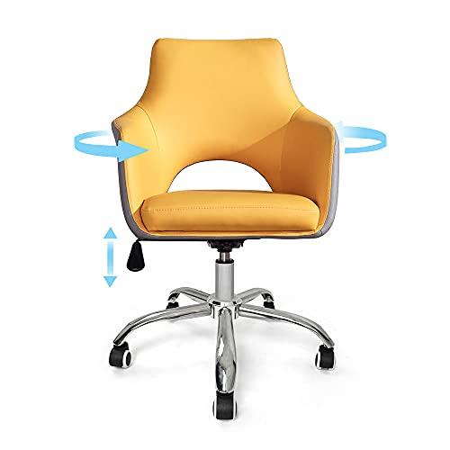 Silla de escritorio de ordenador para el hogar, giratoria para juegos, estudiante, silla de cuero transpirable, diseño ergonómico...