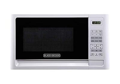Black+Decker EM720CFO-PM 0.7 Cu. Ft. Digital Microwave, White