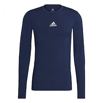 adidas Techfit Compression Long Sleeve Tee T-Shirt, Bleu Marine de l'équipe, m Homme