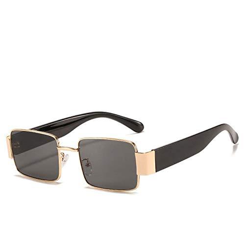 Gafas De Sol Hombre Mujeres Ciclismo Gafas De Sol Cuadradas Vintage De Metal para Hombre, Gafas De Espejo para Mujer, Gafas De Sol De Moda, Gris