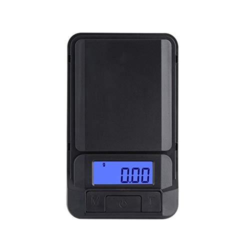 Liseng 0.01 G - Escalera digital portátil para casa, alta precinción, cocina, polvo, pesaje, balanza de joyas en quilates con cremallera