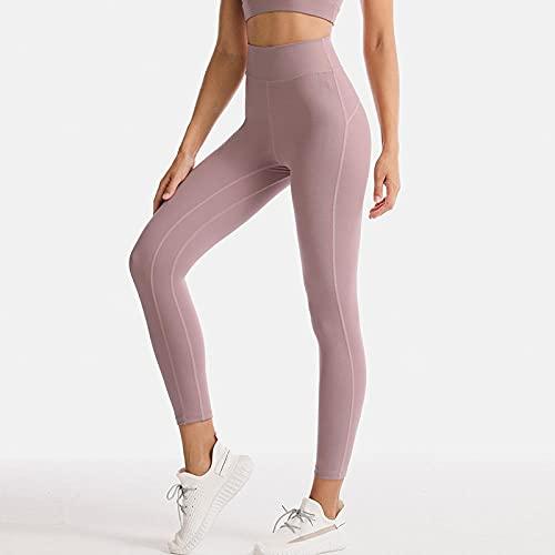 XUNHOU Pantalones de Yoga/Pilates súper Suaves,Use Pantalones Deportivos Ajustados,Pantalones de Fitness de Secado rápido de Cintura Alta-Purple_XL,Pantalones de Yoga elásticos rápido y Transpirables