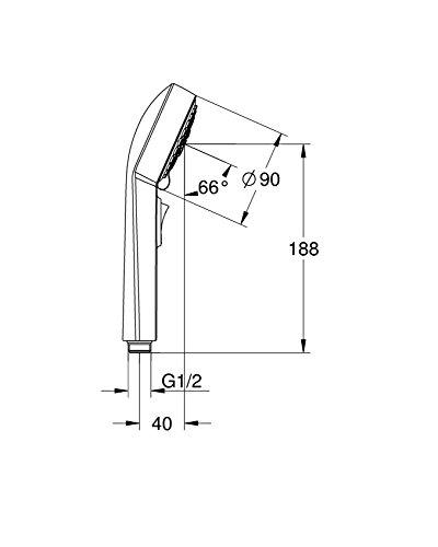 GROHE(グローエ)スプリー90『ハンドシャワー一時止水機能付き(クローム)(26120000)』