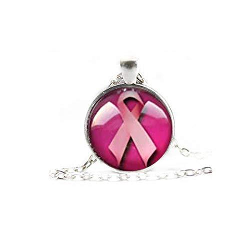 Small Elf Elfenkrebs Survivor-Halskette, Brustkrebsgeschenk, Krebsgeschenk, Krebsschmuck, Bewusstseinsschmuck, Kampfschmuck