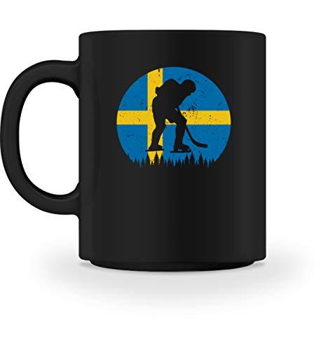 Generisch Eishockey Schweden Tasse | SE Eissport Länderflagge Winter Kaffeetasse