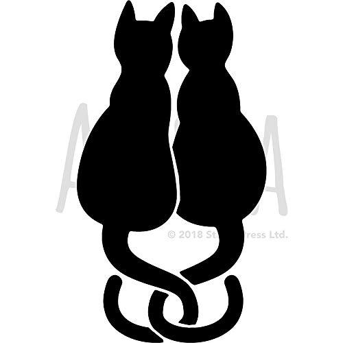 Groß A2 'Liebe Katzen' Wandschablone / Vorlage (WS00040935)