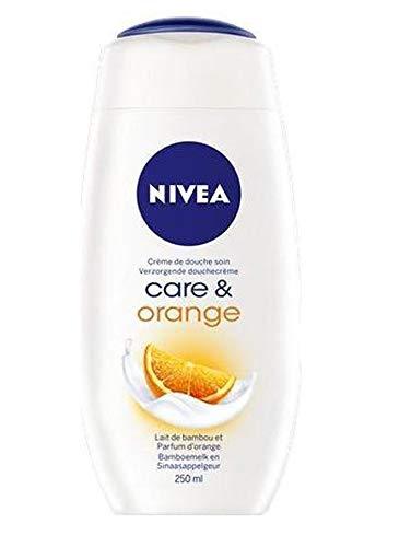 3er Pack - Nivea Duschcreme - Care & Orange - 250ml