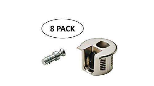 Rafix 20 Panel Connector Set für 19 mm Paneele Für Möbel und individuelle Schranksysteme. Inklusive Steckergehäuse und Schraube. Kein Kantenbohren erforderlich. nickel